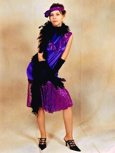 Charleston Paillettes Violette