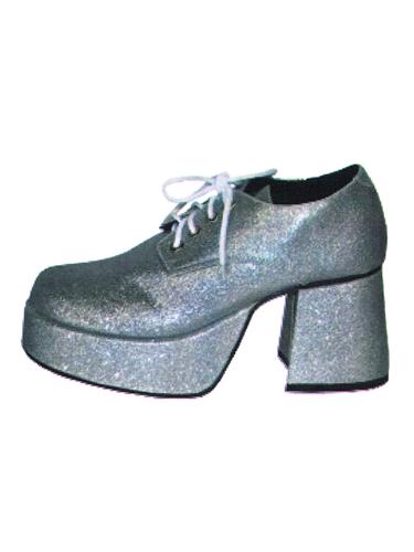 Chaussures à Paillettes Argent Homme