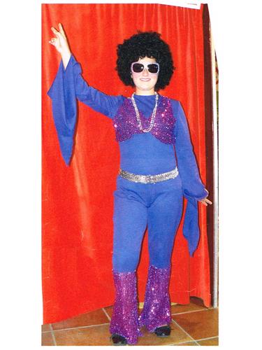 Combinaison Disco Violette