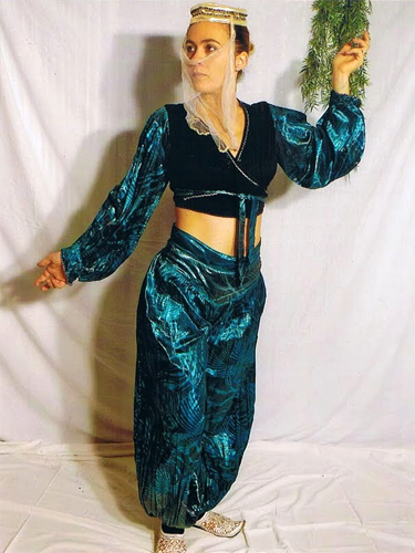 Danseuse Orientale Verte & Noire