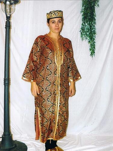 Djellaba Dorée Cuivrée