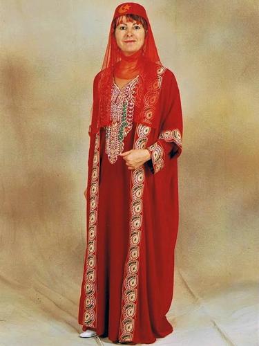 Djellaba Rouge Luxe