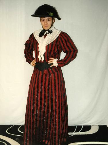 Robe rayée Rouge & Noir