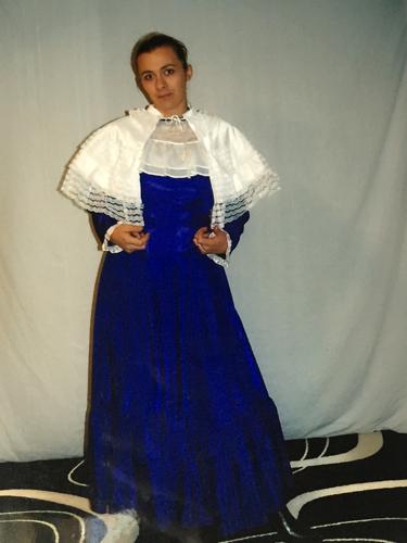 Robe d'époque Bleu Roi