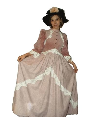 Robe d'époque Rose